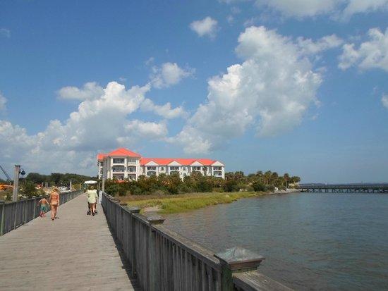 Charleston Harbor Resort & Marina : View from marina