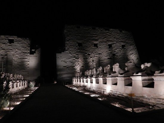 Luxor Sound and Light Show: The entrance to Luxor Temple