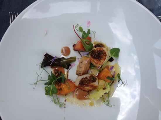 Maio Restaurant : Capesante e foie gras .