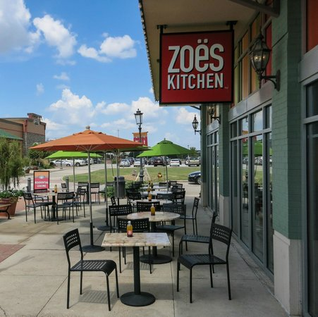 Front Of Restaurant In Perkins Rowe Facing Bluebonnet Blvd