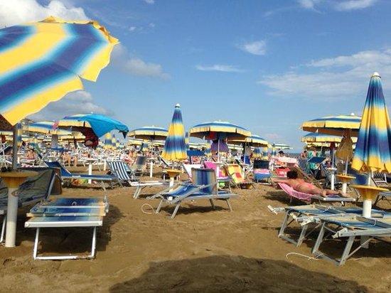Hotel Regina: Spiaggia privata