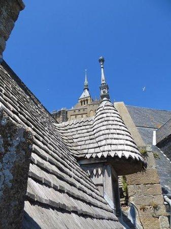 Abbaye du Mont-Saint-Michel : Tejados en Mont-Saint-Michel