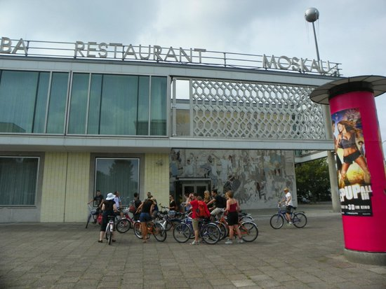 Fat Tire Tours Berlin: Cafe Moscow while on the East Berlin tour