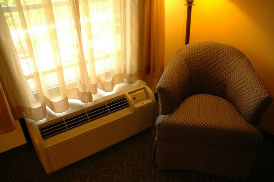 1863 Inn of Gettysburg: chair and A/C unit in room