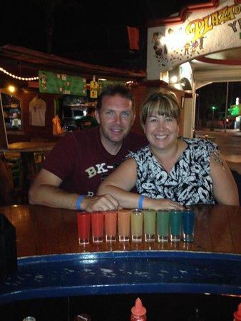 Rip's Bar: Rainbow shots at Rip's