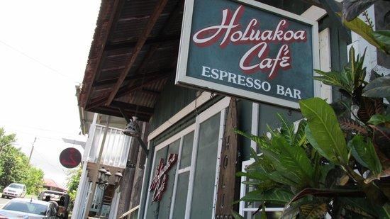 Holuakoa Cafe & Gardens: The cafe sign from the outside