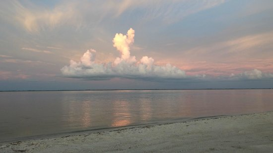 North Captiva Island Club Resort: Sunset, Sound side, end of runway