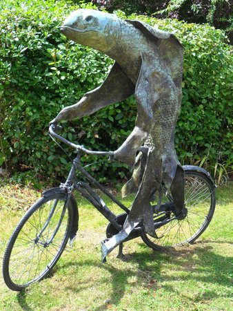 Cass Sculpture Foundation: Steven Gregory: Fish on a bicycle