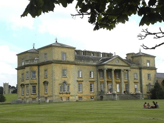 Croome - the mansion with the church in the background