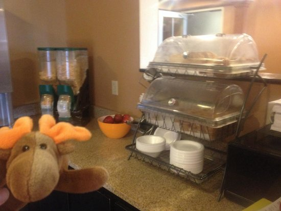 Microtel Inn & Suites by Wyndham Bowling Green: Continental Breakfast: cereal, muffins, toast, bagels & apples