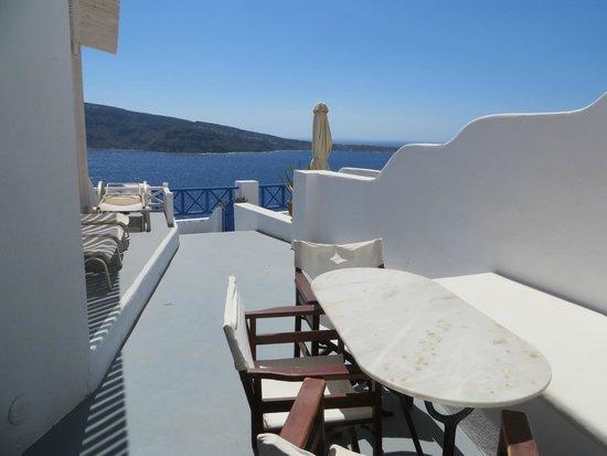 Esperas : Private terrace w/ Caldera and sunset view