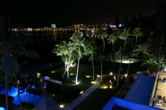 Chateau Royal Beach Resort and Spa : Night view from room