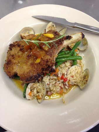 The Inn & Garden Cafe: Buttermilk Cured Bone in Pork Chop