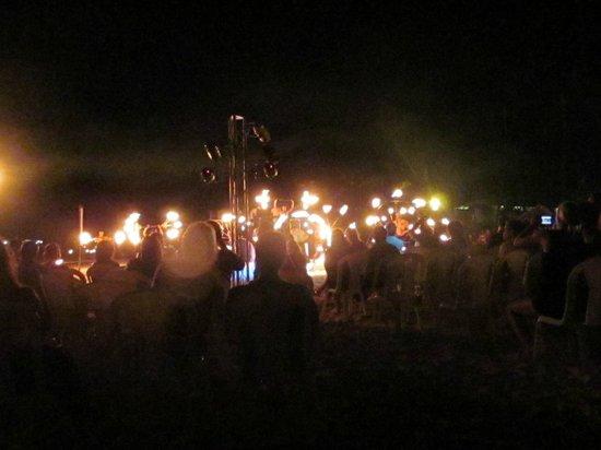 Secrets Royal Beach Punta Cana: Fire show at the beach party