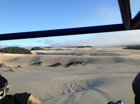 Florence, Oregón: Looking out of our sandrail.