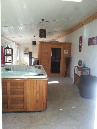Chambres d'hotes La Plaine : espace jacuzzi et sauna