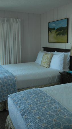 Dyer's Beach House: View of beds --- nice welcome!