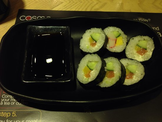 Cosmo: Only 1 kind of sushi all night!