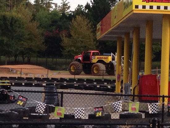 The Speedpark At Concord Mills Monster Truck Ride In Distance