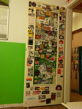 Backpackers Dusseldorf : Stickers from all the world