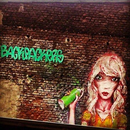 Backpackers Dusseldorf : Grafitti