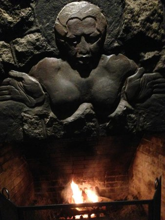 Volcano House: Above Fireplace