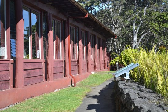 Volcano House: Rear of Lodge