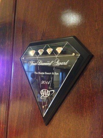 The Shores Resort & Spa: 4 Diamond Hotel!
