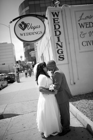 Vegas Weddings: After the ceremony, outside Wedding Garden chapel
