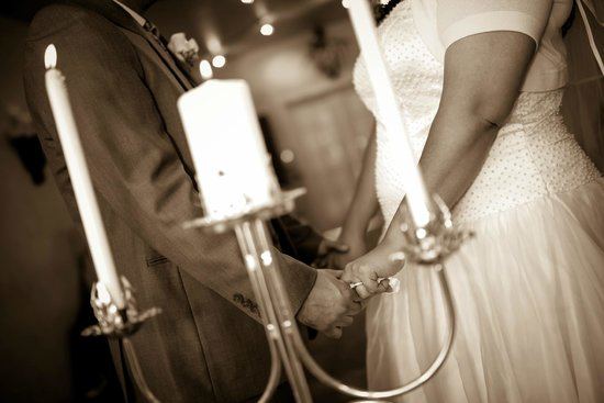 Vegas Weddings: During the ceremony, after the unity candle lighting