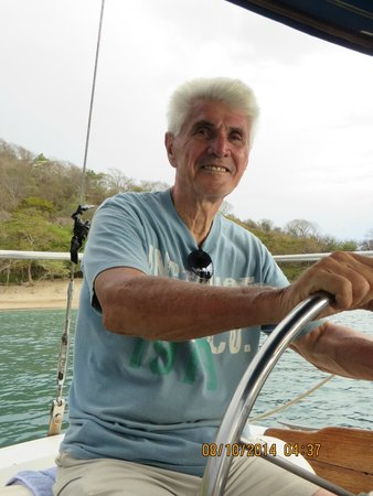The Secret Cove Inn: Ray, the owner and captain of the sailboat