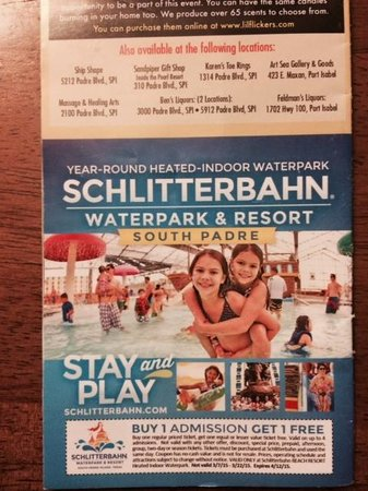 Schlitterbahn south padre island discount coupons
