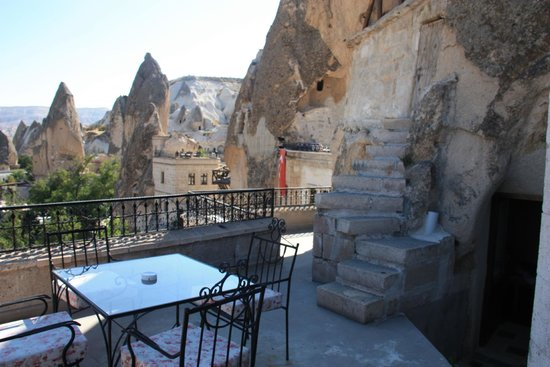Cappadocia Cave Suites: view from patio of 301