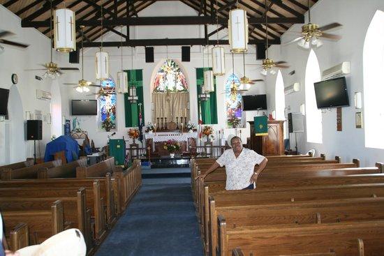 Cockburn Town: Beautiful church at Grand Turk
