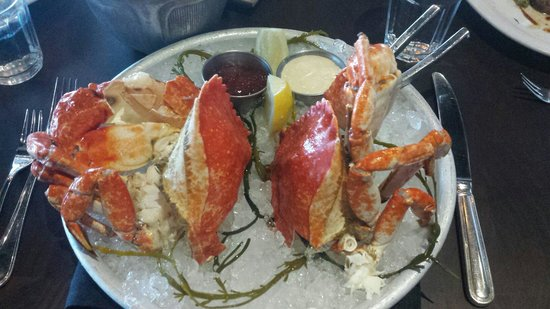 Water Grill Santa Monica: Crab cold plate. Sadly not as good as the UK version.