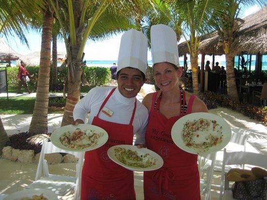 El Dorado Maroma, a Beachfront Resort, by Karisma: Our cooking class with Camacho!
