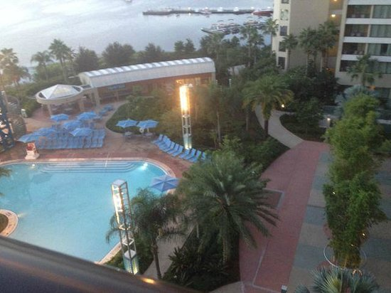 Bay Lake Tower at Disney's Contemporary Resort: View from our room - lake view