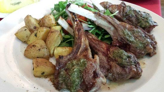 Il Fornaio: Lamb chops...yum