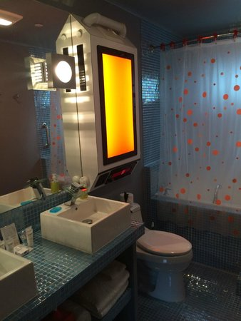 The Roxbury, Contemporary Catskill Lodging: The FInal Frontier (downstairs bathroom)