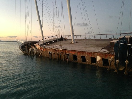 Sundowner Sunset Cruises: The wreck of the Whitsunday Magic