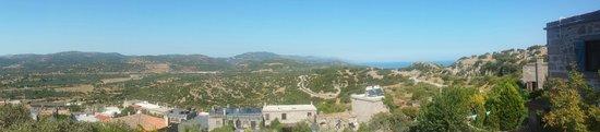 Assos Nar Konak: View from the top garden