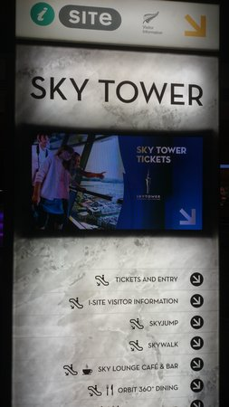 Sky Tower entry.