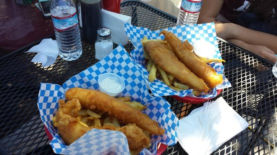 The Codmother Fish & Chips: Regular Order.  One basket is plenty of food to split between two people.