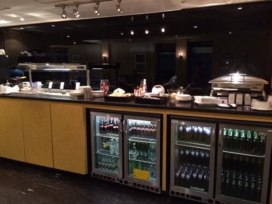 Crawley, UK: food and drink in the executive lounge