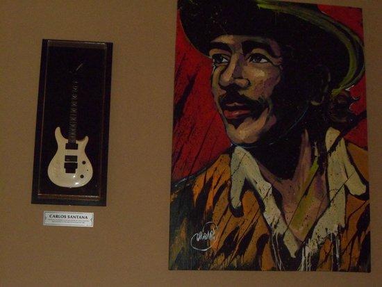 Hard Rock Hotel & Casino Punta Cana: Carlos Santana's Guitar & Painting