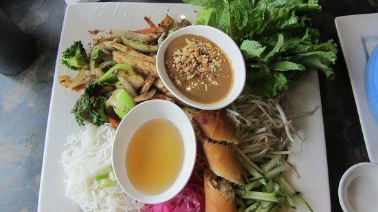Pho Fusion: Veges with vermicilli noodles