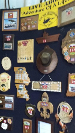 USS Lexington honoring Scouts that have visited