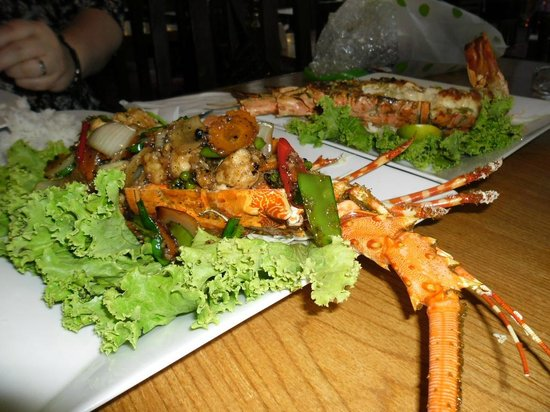Hua Hin Seafood : Lobster after