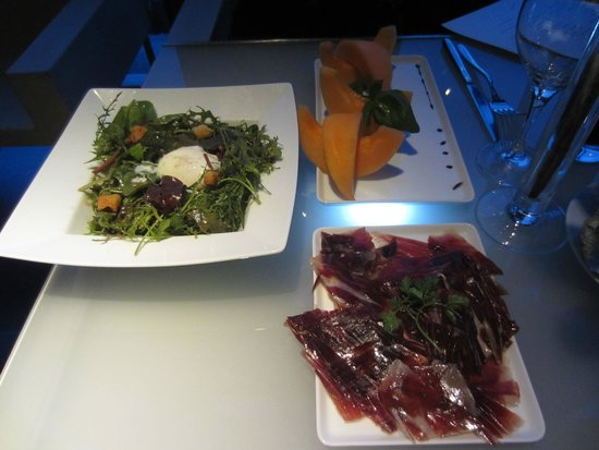 Georges Opera: Food looked good, but the Jamon Iberico was tough.