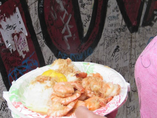 Giovanni's Shrimp Truck: plate of food